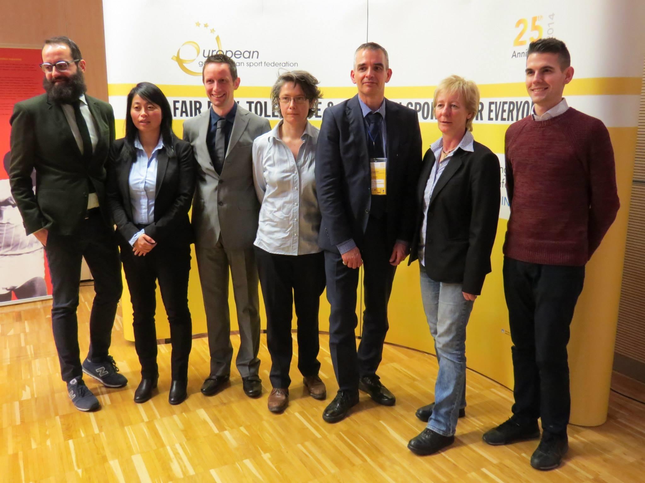 2013-m.-EGLSF-valdyba.-Iš-kairės_-Jon-Landa-Tamara-Tien-Tim-van-Hoydonck-Armelle-Mazé-Klaus-Heusslein-Annette-Wachter-ir-Dániel-Waliduda