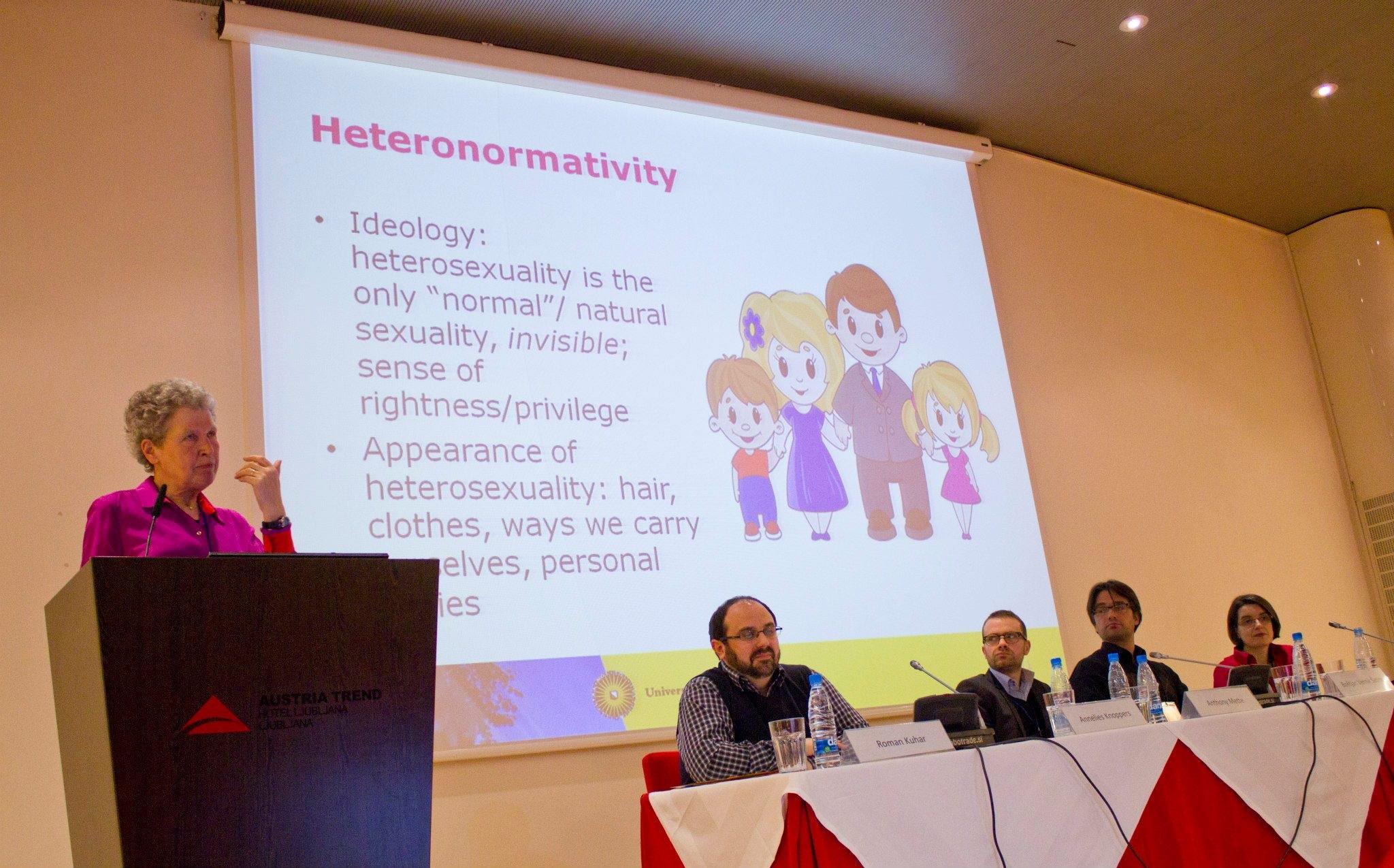 Pranešimą skaito Annelies Knoppers, Utrechto universiteto profesorė
