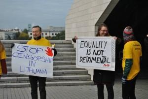 LGL protestuoja prieš LGBT turinio cenzūrą