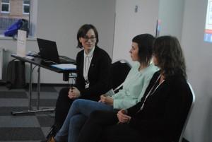 """LGL atstovė pristato LGL tyrimo rezultatus projekto """"Vaivorykštės teisės"""" regioninio seminaro metu"""