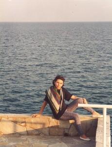 Mikonos saloje prie jūros. Asmeninio archyvo nuotr.