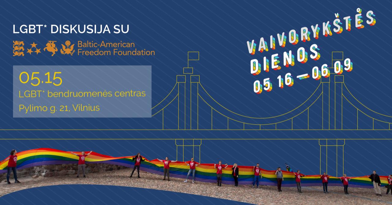 BAFF pokalbis apie LGBT teisių apsaugą Lietuvoje ir JAV
