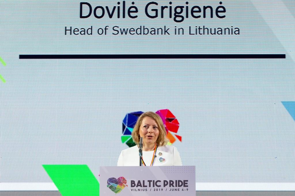 """""""Swedbank"""" Lietuvoje Valdybos pirmininkė ir administracijos vadovė Dovilė Grigienė. © Augusto Didžgalvio nuotr."""