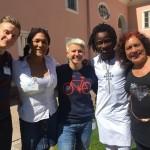 is kaires Dominik Koehler, Germany; Nana King, Ghana; Ieva R., Bisi Alimi Nigeria_UK; Tamara Adrian, Venesuela