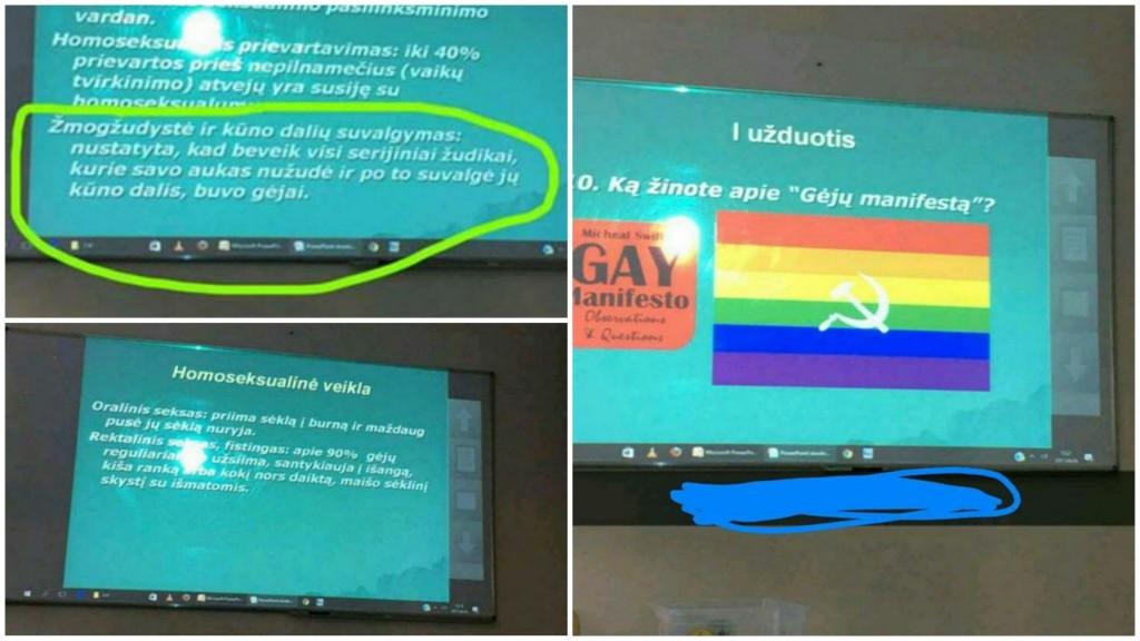 Information presented to students of Telšiai Žemaitės school.