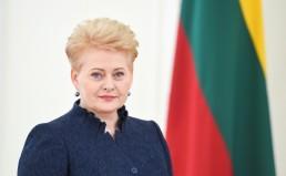 Lietuvos Respublikos Prezidentės Dalios Grybauskaitės portretas.